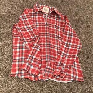 American Eagle Plaid Cotton Shirt